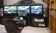 For the true gaming experience I would have a real racing chair, a force feedback wheel, and an amazing 3-screen panoramic display in my XBOX 360 Dream Room