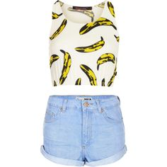 Designer Clothes, Shoes & Bags for Women Bananas, Mini Skirts, Shoe Bag, Polyvore, Blog, Stuff To Buy, Shopping, Collection, Design