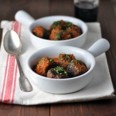 Meatballs with Mint & Parsley in Tomato Sauce: Round and Round We Go | Turntable Kitchen