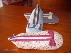 Las Labores de Mari Luz: Estuches zapatilla