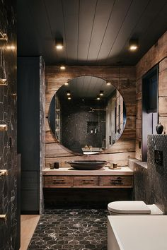 Rustic Home Design, Dream Home Design, Home Interior Design, Cabin Bathrooms, Rustic Bathrooms, Casas The Sims 4, Bathroom Design Luxury, Log Homes, House Rooms