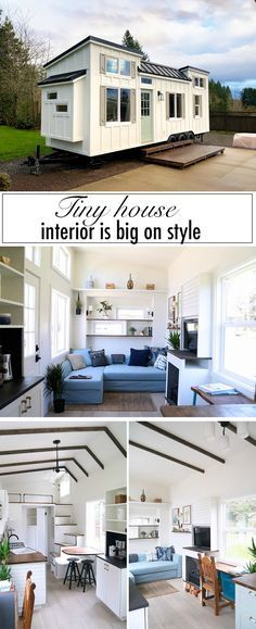 design ideas interior This custom-built tiny house is big on interior design. This custom-built tiny house is big on interior design Tiny Houses For Rent, Tiny House Plans, Tiny House On Wheels, Little Houses, Tiny House Exterior Wheels, Tiny House Shed, Little Big House, Tiny House Wood Stove, Cheap Tiny House