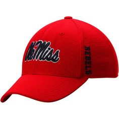 half off d8395 78bc3 ... get ole miss rebels top of the world booster plus memory 1fit logo flex  hat red