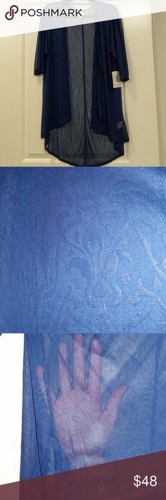 🆕 LuLaRoe Lindsay Kimono Brand NWT LuLaRoe Lindsay cardigan!! Amazing sheer navy blue with beautiful design too.  💕Bundle for even better savings💕 ⭐I consider all reasonable offers⭐ 🎄Perfect gift idea🎄 LuLaRoe Sweaters Cardigans