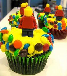 Lego Cupcakes---lego guy on top is edible