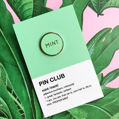 Mint. Proper mint. ✨ New pins just arrived! ✨ super sleek 20mm size, £5, link in bio ✨#pinclub #northern #mint #pinaddict
