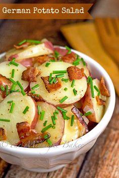 German Potato Salad | bakeatmidnite.com | #potato #salad #recipe