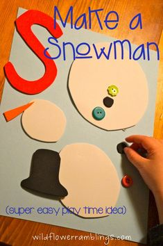 a silly snowman {and a lesson for mama}