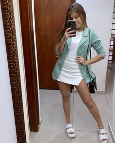 132 charming outfits ideas for teen for any season 51 Blazer Outfits Casual, Girly Outfits, Skirt Outfits, Trendy Outfits, Cute Outfits, Fashion Outfits, Womens Fashion, Teenager Fashion Trends, Photo Lovers