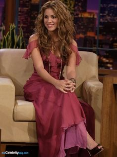 Shakira- The style of the dress and hair :)