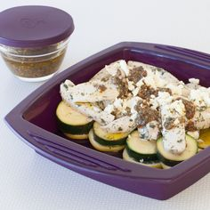 #Epicure 8-minute El Greco Lemony Chicken and Zucchini