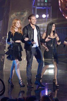 Dom, Kat, & Em at the MTV Fandom Awards pre-taping July 21.