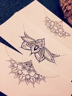 Sternum Tattoo Sketches