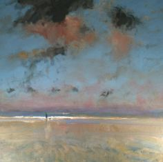 Oil Paintings of Orchards | Colin ORCHARD - Winter Evening, Norfolk Coast