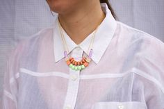 pastel mixed bead necklaces from AMM jewelry_copy the look.