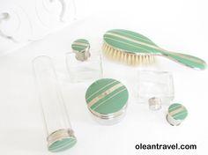 Vintage Art Deco Dresser Vanity Set Traveling 20s - 30s - http://oleantravel.com/vintage-art-deco-dresser-vanity-set-traveling-20s-30s