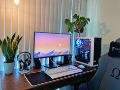 Best Gaming Setup, Computer Desk Setup, Gaming Room Setup, Pc Setup, Interior Design Guide, Bedroom Setup, Video Game Rooms, Home Office Setup, Game Room Design