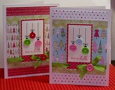 Deck The Halls by ! - Cards and Paper Crafts at Splitcoaststampers Paper Crafts, Diy Crafts, Card Crafts, Button Ornaments, Deck The Halls, Girl Scouts, Homemade Cards, Christmas Cards, How To Memorize Things