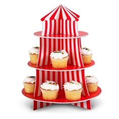 circus cupcake stand mitchell-s-first-birthday