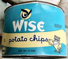1970s Wise chip can | Flickr - Photo Sharing!