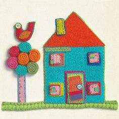 MADELEINE MILLINGTON  Home To Roost  fabric design NEW SIZE:30cm x 30cm NEW