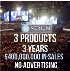 An outstanding company that continues to grow and expand. Join us now. It can change your life. http://www.amycranston.nerium.com
