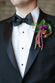 Black tie groomsman idea.