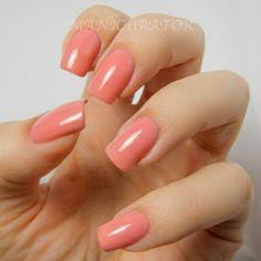 This is the namesake of the Selena Collection from Nicole by OPI, Selena is a peach, almost jelly polish and I WANT IT!!