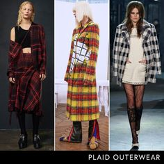 Pre-Fall 2016 Trend Report Plaid Outerwear