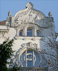 Secession in Budapest - the Körössy Villa. Built by architect Albert Kálmán Körössy for his family in The style of the building is mixture of French-Belgian art noveau and early Jugendstil. Most Beautiful Cities, Gaudi, Architecture Details, Hungary, Places To Travel, Art Nouveau, Villa, Europe, Tours