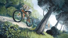 Anna Kislitsõna, Estônia. #Ilustração #Bicicleta #bicicletarte