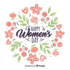 Discover thousands of free-copyright vectors on Freepik Women's Day 8 March, 8th Of March, Happy Woman Day, Happy Women, Women's Day Cards, Womens Day Quotes, Love Illustration, Mothers Day Crafts, Ladies Day