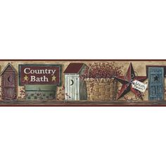 Beau RoomMates Better Homes And Garden Country Bath Border