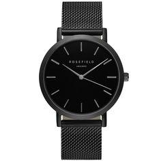 Rosefield - Mercer Black Stainless Steel Mesh Watch
