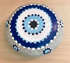 IG @beyhanintaslari evil eye painted rock