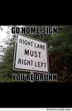 Go home, sign.