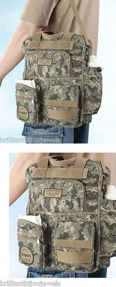 Baby: Gifts For New Dad Daddy Diaper Bag Military Mens Camo Shoulder Bag Baby Shower BUY IT NOW ONLY: $57.81 #priceabateBaby OR #priceabate