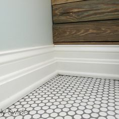 White Penny Tile Bathroom Floor - maybe powder room floor?