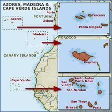 Map of Azores and Cape Verde #TeamCapeVerdean #TeamCV #Team238 #TeamFunana #Travel