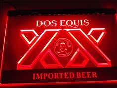 LE042- Dos Equis Beer Bar Pub Restaurant Light Sign