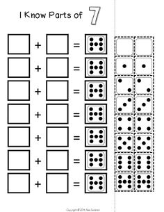 Addition fact fluency - use part/part/whole activities to develop fact fluency without rote memorization