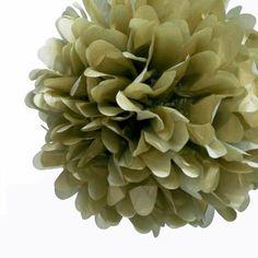 Gold Tissue Paper Pom-Pom - Small