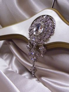 Couture Crystal Hangers; contact Crystal Brooch Bouquets Inc. for more information! 1-847-951-4600