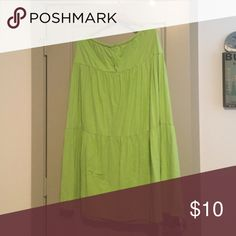 Tommy Bahama Maxi Skirt Tommy Bahama Maxi Skirt in lime green. As always from TB, the material is fabulous. Has draw string. Tommy Bahama Skirts Maxi