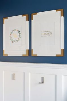 Ikea HACK: Brass corners that dress up these IKEA frames are actually cut out of…