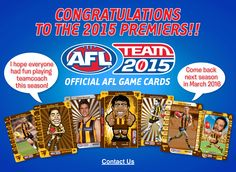 TeamCoach - AFL Trading Card games where you are the coach