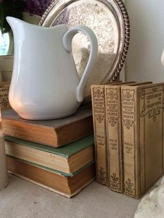 Little Farmstead: Antique Books {Thrift Store Finds} and Lilacs...