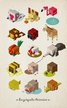 Isometric Animals by hedorah