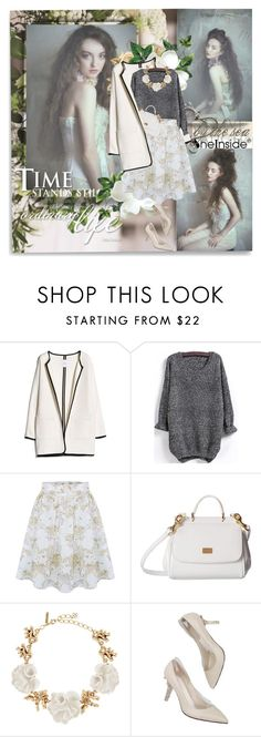 """""""Alexia - Sheinside"""" by shinee-pearly ❤ liked on Polyvore featuring MANGO, Dolce&Gabbana and Oscar de la Renta"""