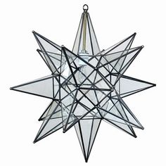 "Moravian Star Light Clear Glass 22"" -- only $329. Seems like a bargain compared to the other one I pinned, eh?"